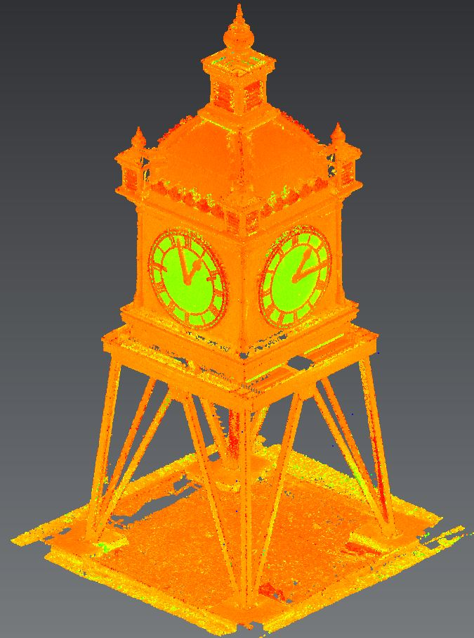 Water Tower Clock (2D CAD drawings) - Laser Scanning Melbourne